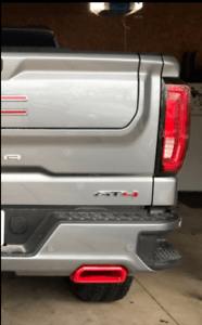 details about 2019 2020 chevy silverado gmc sierra exhaust tips red hot oem at4 trail boss