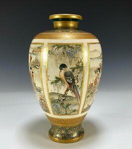 Gorgeous Antique Japanese Satsuma Pottery Vase