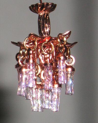 1 48 1 4 scale dollhouse miniature crystal chandelier 3v led light 0001785 dollhouse miniatures lamps lighting