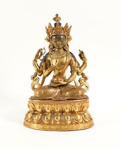 Chinese Sino-Tibetan Gilt Bronze Tara