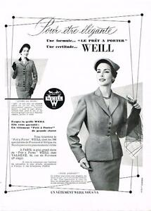 image is loading publicite advertising 1953 weill haute couture pret a