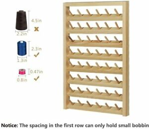 details about 48 spool sewing thread rack wall mounted sewing thead holder with hanging hooks