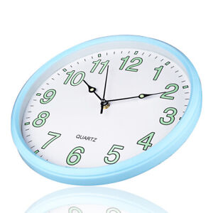 """12"""" Night Light Wall Clock Silent Non-Ticking Glowing For ... on Decorative Wall Sconces Non Lighting id=45687"""