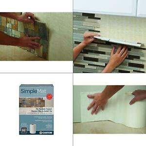 details about simplemat 30 sq ft roll of tile setting mat wall backsplash underlayment new