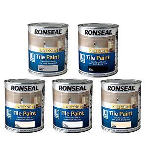 details about ronseal one coat tile paint satin 750ml kitchen bathroom tile paint 5 colour s