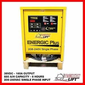 NEW 36 VOLT 160 AMP 240V SINGLE PHASE FORKLIFT CHARGER 36V