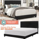 King Size Bed Frame With Headboard Black Faux Leather Upholstery For Bedroom For Sale Online Ebay