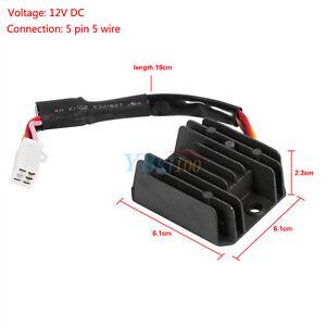 Universal Motorcycle Voltage Regulator Rectifier 5 Wire 5 Pin 12V Scooter ATV 934179300008 | eBay