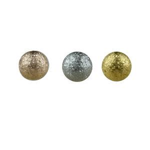 1,2mm SAND Glitzer Piercing Kugel Gold Rosegold Sand gestrahlt Lippe Ohr Augenbr