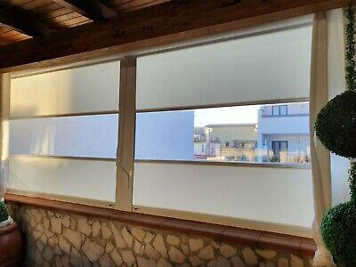 Nuova fornitura e installazione di tende ermetiche lampo con guida antivento ad opera della zilvetti tendaggi. Tenda Veranda Ermetica A Rullo In Cristal Trasparente Antivento Anti Vento Ebay