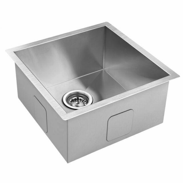 510x450mm handmade stainless steel undermount topmount kitchen laundry sink