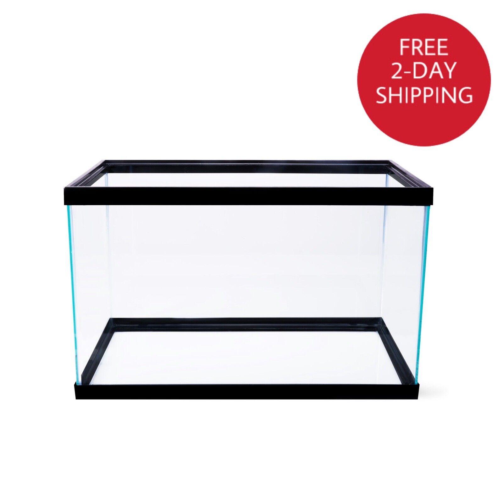 10 gallon aquarium fish tank clear glass terrarium fishes pet reptiles aqua home