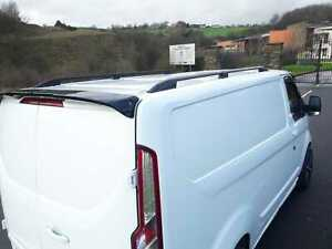 ford transit custom swb roof bars rails rack m sport rs set black 2013 2019 ebay