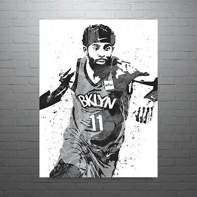 kyrie irving brooklyn nets poster free us shipping ebay