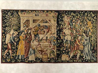 tapisserie aubusson vignerons par robert four 110x200cm tissu ebay