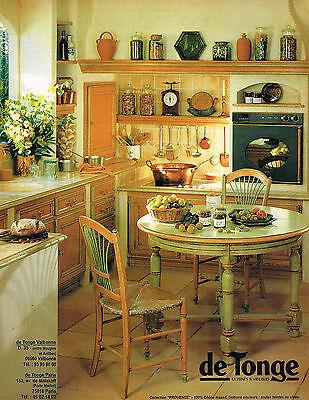 publicite advertising 045 1994 de tonge cuisines meubles ebay