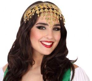 details sur serre tete piece doree jasmine deguisement femme arabe danseuse neuf pas cher