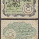(B13) Fiji 1 Penny 1942 (F) Condition Banknote P-4