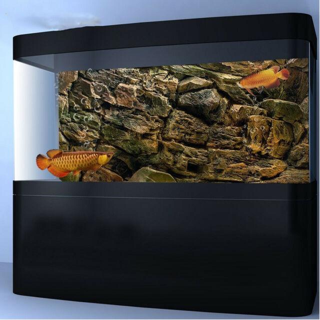 3d rock wall aquarium background fish tank landscape decor adhesive poster viv