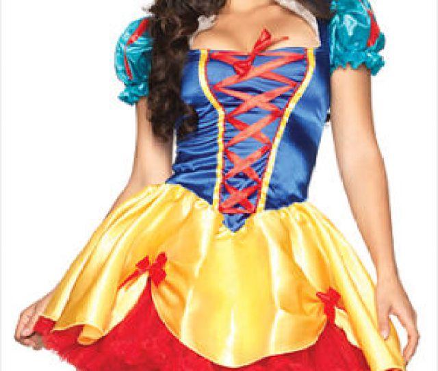 Disney Fairytale Sexy Snow White Dress Adult Women Halloween
