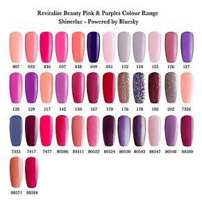 Shinerlac Nail Polish Colours Uv Led Soak Off Gel Pink Purple Colour Range Ebay