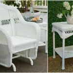 White 2 Piece Resin Wicker Patio Glider Chair Set Outdoor Home Furniture For Sale Online
