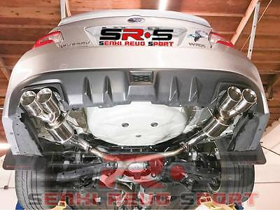 srs axleback quad tip exhaust w polish 3 5 tips w muffler for 2015 wrx sedan ebay