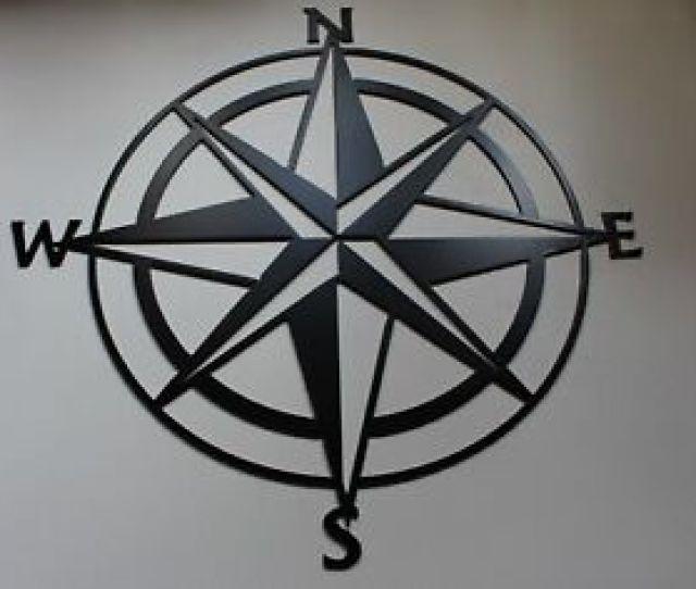 Nautical Compass Rose Wall Art Decor Black  Ebay