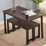 Plank Farmhouse Dining Table Set Bench Rustic Kitchen Furniture Solid Wood For Sale Online Ebay