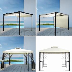 details about alu metal garden patio gazebo metal grape trellis pergola outdoor canopy shelter