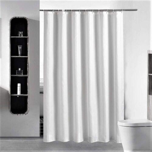 stall shower curtain hooks 54 x 72 inches plain white