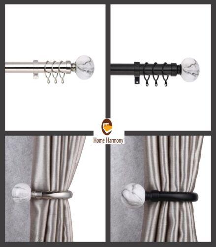 rollos gardinen vorhange marble ball 25 28 mm telescopic extendable curtain pole set holdbacks available mobel wohnen stars group com