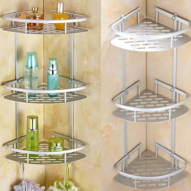 3 shelves bathroom shower shelf corner bath caddy storage holder organizer rack