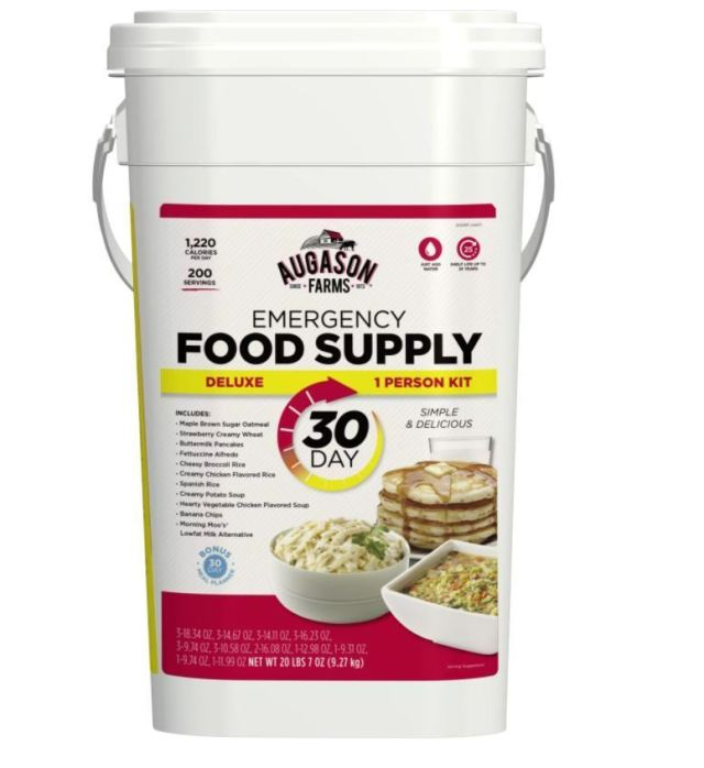 Augason Farms Emergency Food Bucket Deluxe 30 Day Supply Pail Survival Storage 2