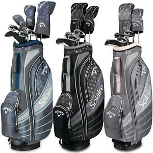 New 2018 Callaway Solaire 8 Piece Womens Golf Package Set - Black or Cherry