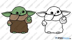 Download Baby Yoda SVG - Cuttable Cricut - Silhouette Cameo Cut ...