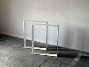 details sur pieds de table jambes acier tableau des cadre chemins bureau blanc industrielle