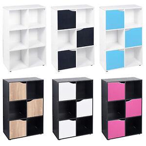 details sur 6 cube bibliotheque bois etagere affichage etageres meuble de rangement bois etagere porte neuf afficher le titre d origine