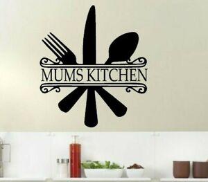 Kitchen Quote Mums Kitchen Wall Art Sticker Heart Of The Home Vinyl Decal Ebay