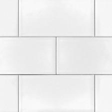 white 4x10 beveled shiny ceramic subway