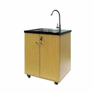 details about portable sink self contained hand wash station mobile sink water fountain w pump