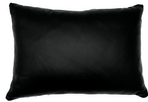 details about full grain leather black lumbar pillow cover only or with cushion couch decor