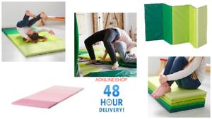 details sur ikea nouveau pliant gym tapis plufsig vert ou rose 2 couleurs de choix 75x185 afficher le titre d origine
