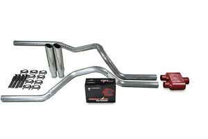 details about dodge ram 1500 04 08 2 5 dual exhaust kits cherry bomb extreme clamp on tips