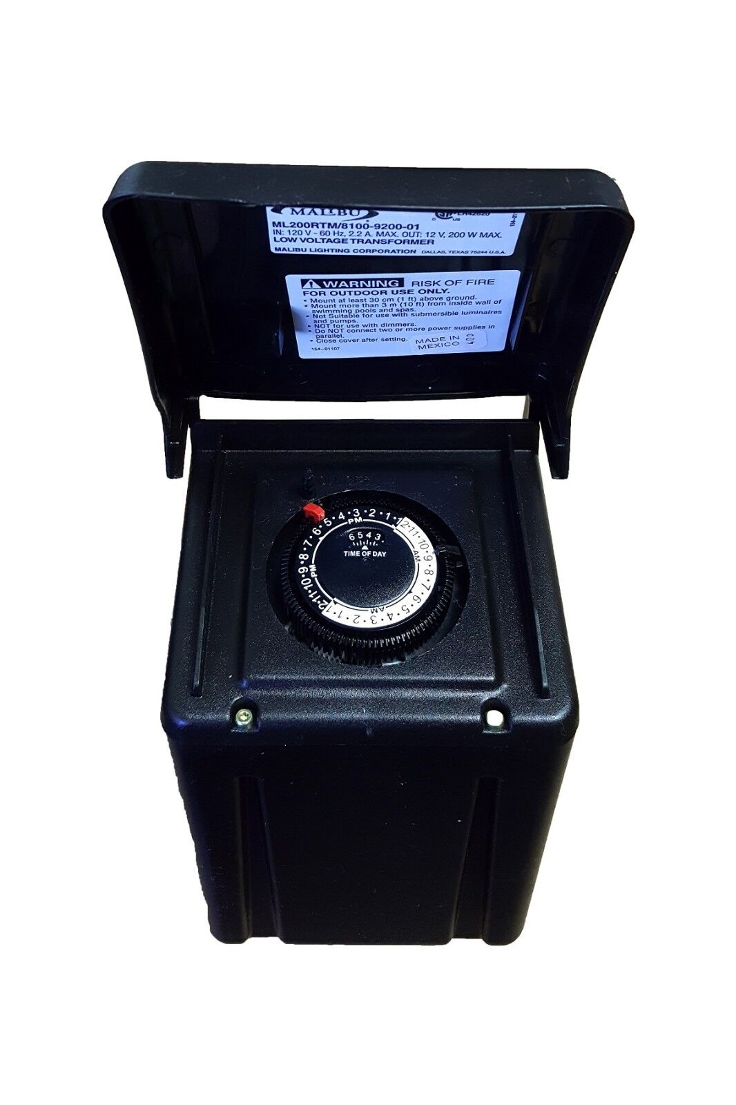 malibu ml200rm 200 watt 12v ac low voltagetransformer timer