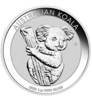 Silbermünze Australien 2020 Koala 1 oz Unze Silber (31,1 g Feinsilber)