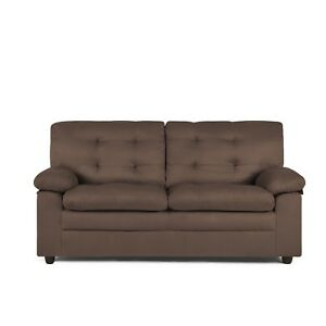 Details About Upholstered Apartment Sofa Brown Couch Loveseat Comfortable Soft Furniture