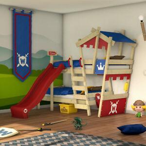 details zu wickey etagenbett kinderbett crazy castle hochbett aus massivholz 90x200cm