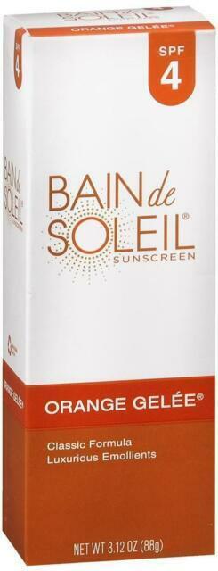 bain de soleil 77093 orange gelee spf 4 sunscreen 3 12 oz