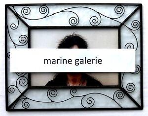 details sur cadre photo 10x15 en verre et metal noir a poser moderne gothique stock france